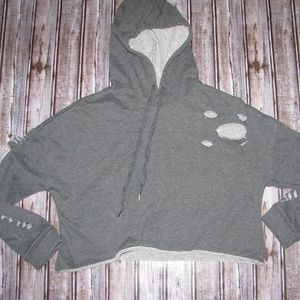 Rue 21 size small grey crop hoodie